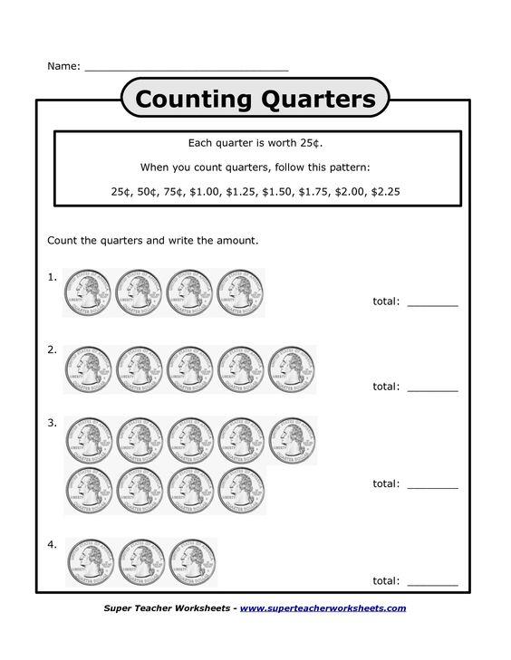 Printables Counting Quarters Worksheet counting quarters worksheet davezan worksheets bing images homeschool