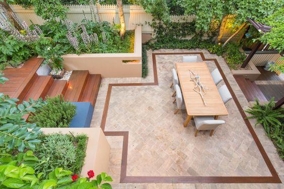 Gestaltungsideen für kleine Gärten - Terrasse mit Essplatz - garten gestaltungsideen fur kleine garten