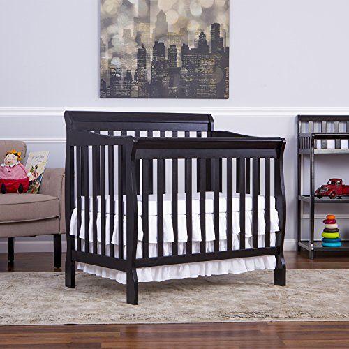 Dream On Me 3 in 1 Aden Convertible Mini Crib, Black