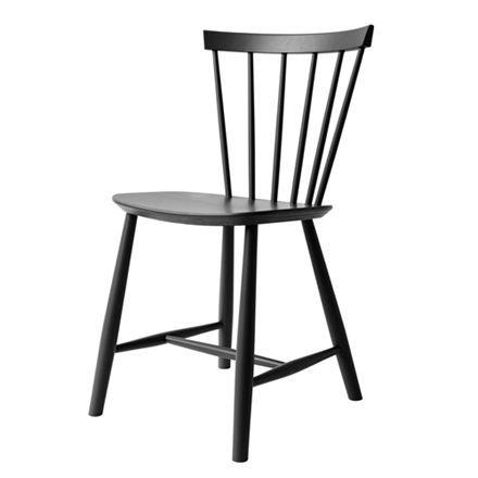 Poul m. volther j46   sort stol   en klassiker i 5 moderne farver ...