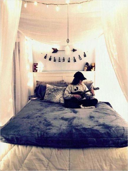 Pin On Bed Inspo Aesthetic bedroom decor uk