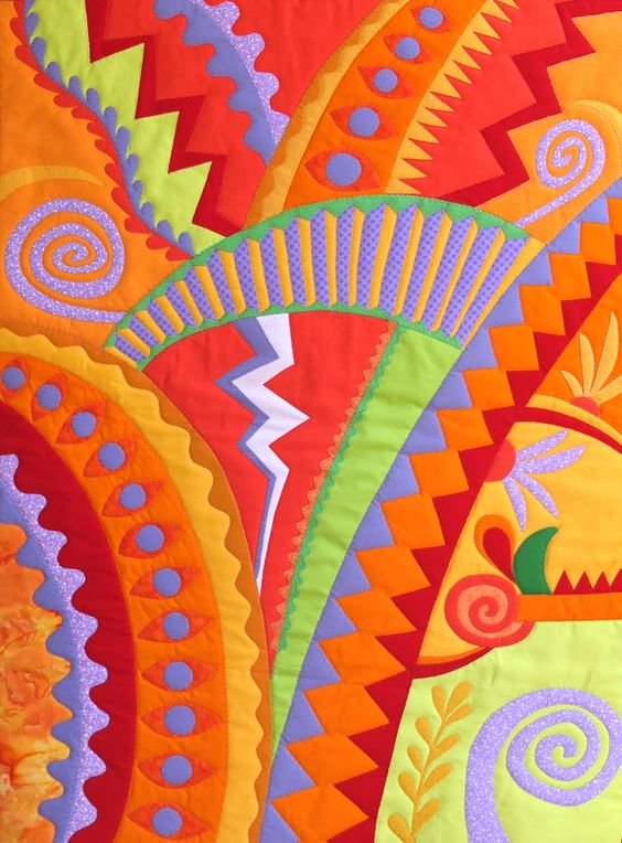 Zipper -  Linda Rudin Frizzell - quilt close-up: