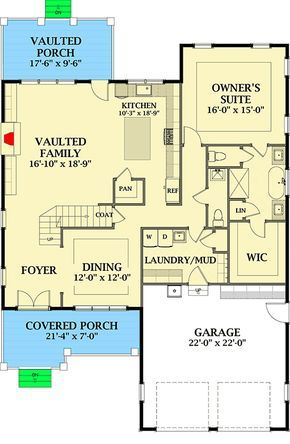 3 Bed New American Cottage Plan With Main Floor Master 46358la Architectural Designs House Plans Cottage Plan Kids Bedroom Remodel Small Bedroom Remodel