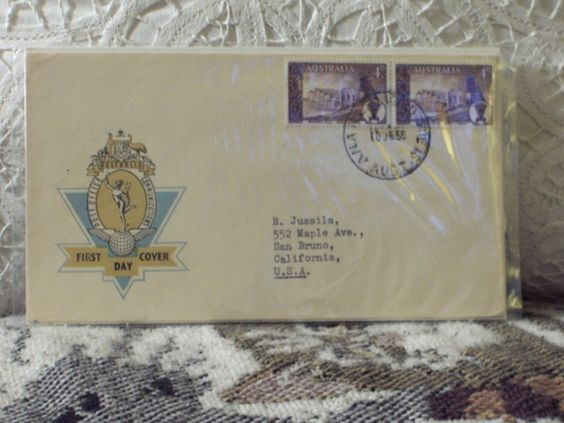 http://ajunkeeshoppe.blogspot.com/  First Day Issue/Cover-Stamp-Australia P.O. Communicat 8ozP724B4HP1174