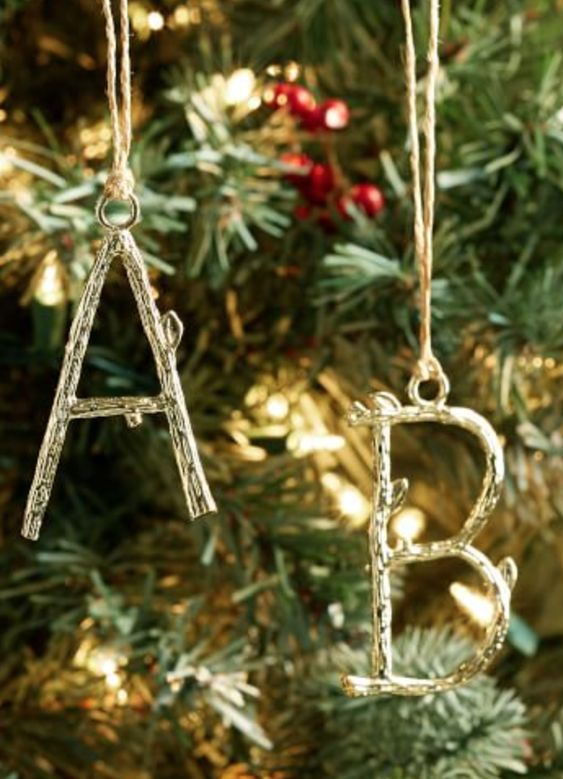 Vine letter ornament
