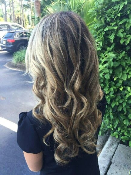 For the fall we did a blonde brown balayage ombre! Love it.