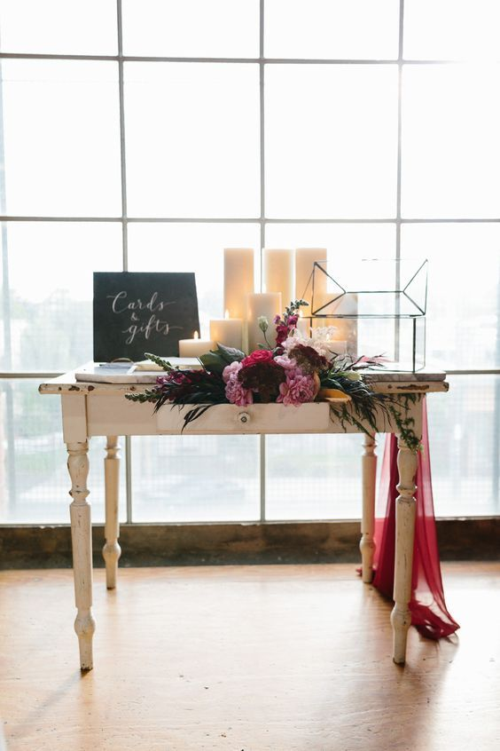 Wedding Gift Registry Ideas And Wording Examples Gift Table Wedding Wedding Registry Table Wedding Registration Table