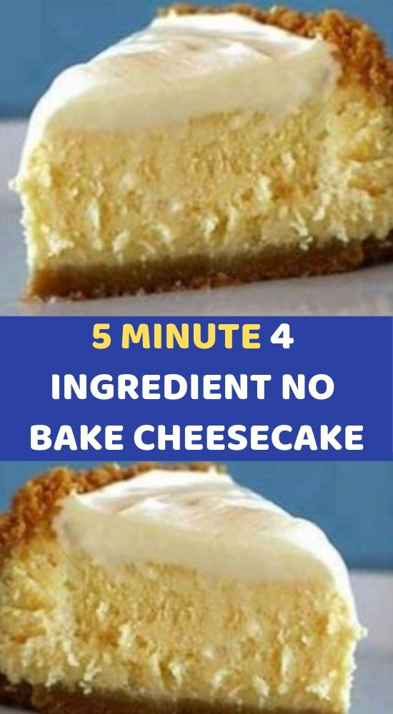 5 Minute 4 Ingredient No Bake Cheesecake Ingredients 1 Can Of Sweetened Condensed Easy Cheesecake Recipes Cream Cheese Recipes Dessert Milk Recipes Dessert