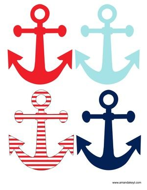Nautical Party Free Printable Photo Booth props at www.amandakeyt ...