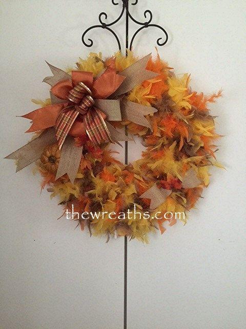 Fall Wreath by thewreaths.com