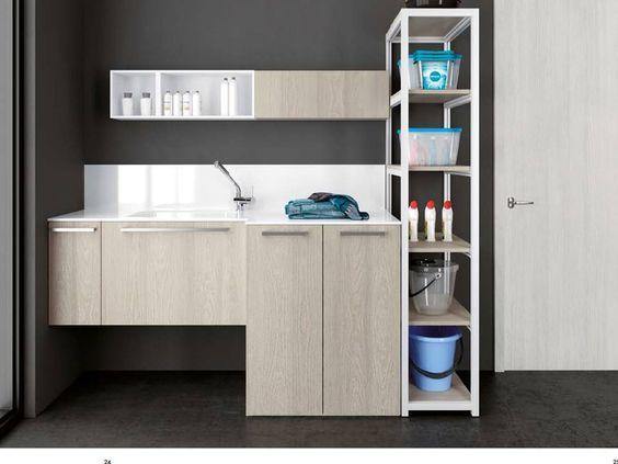 Armadi per inserire lavatrice e asciugatrice bagno - Sovrapporre asciugatrice e lavatrice ...