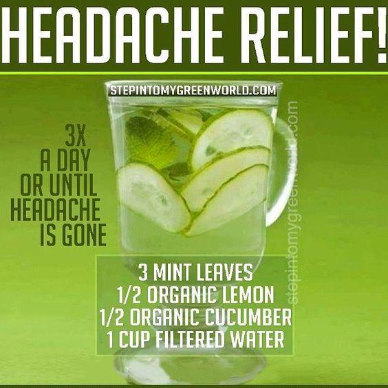 #headache #relief #headacherelief  #mint #cucumber #lemon #water #relax #ValerieJTaylor #TheTayloredLife