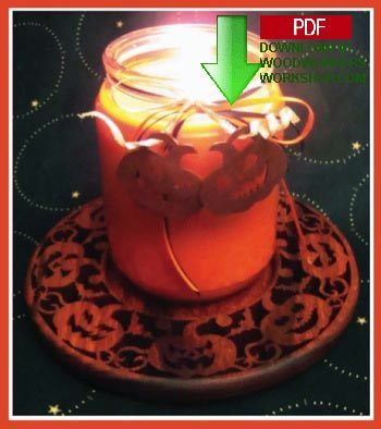 Spooky pumpkin candle tray for you to make with plan 48-SLD331