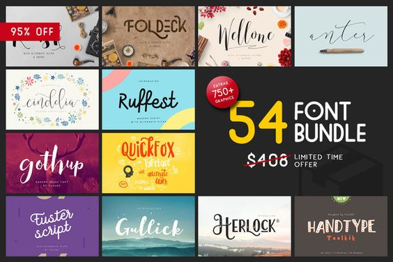 Font & Graphic Bundle - 95% off by vuuuds