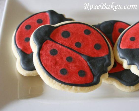Ladybug Sugar Cookies with Royal Icing