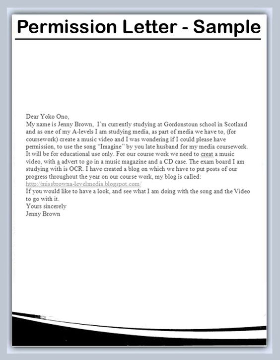 sample permission letter for traveling child pictures pin the - permission letter