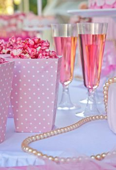 """Little ballerina's """"Champagne"""" and popcorn from Petit Gateau's little ballerina party table. Photo by Daniel Layla"""