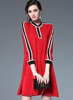 Fashion Hit Color Stitching Skater Dress