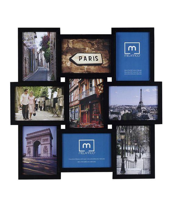 Black Nine-Photo Collage Frame  FOR THE PARIS BATTHROOM