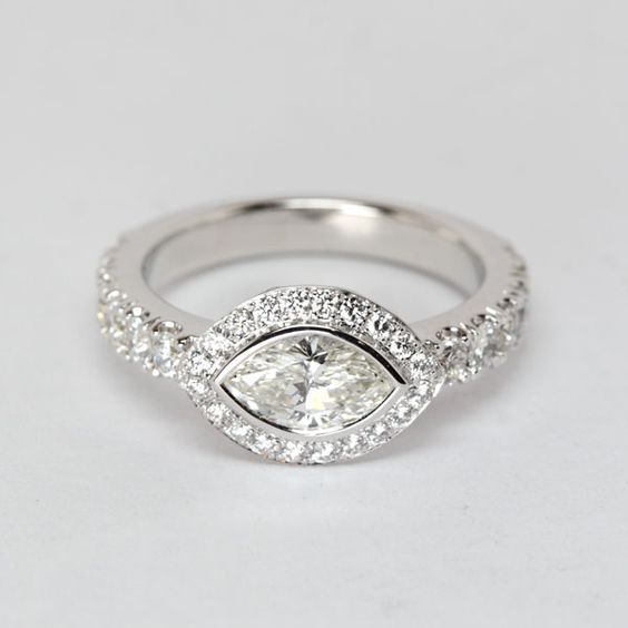 Marquise Engagement Ring from Oliver Smith Jeweler Engagement Rings