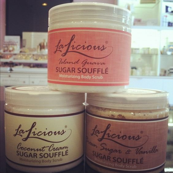 #Product of the #Day: @LaLicious_LA #Sugar Soufflé moisturizing #body #scrub. Boost the #benefits of your #self-#tanner by #exfoliating before applying with these #natural, #delicious smelling #body #scrubs. $32.00