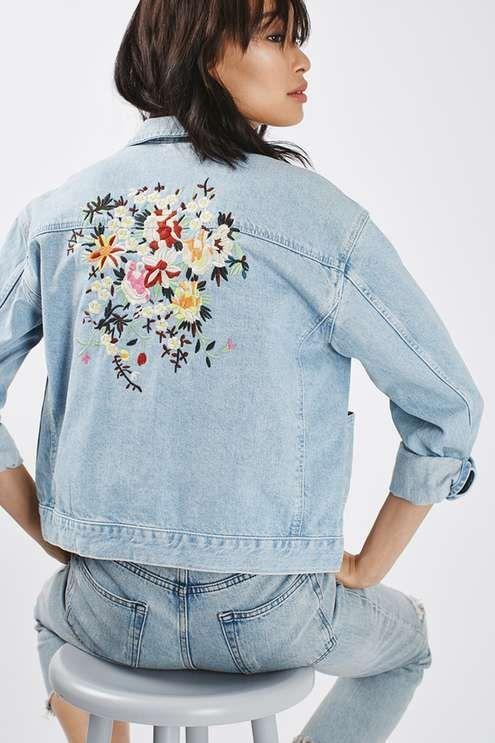 Jaqueta jeans bordada: