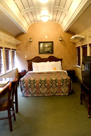Chattanooga Choo-Choo car converted into a room.  Loved it!