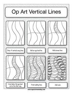 Printables Op Art Worksheet elements of art worksheets op and the expressive monkey