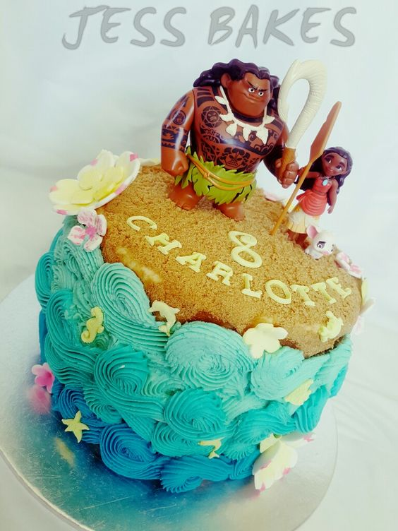 Moana cake by Jess Bakes www.jessbakes.net: