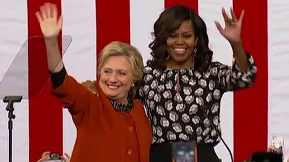 Michelle Obama and Hillary Clinton hit campaign trail together in NC #michelle #obama #hillary #clinton #campaign #trail #together