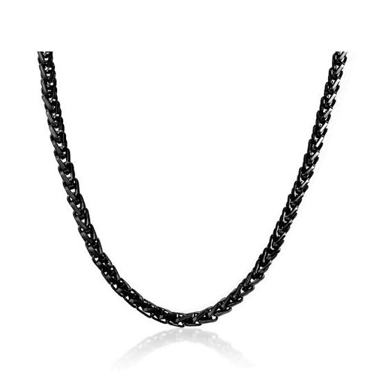 Stainless Steel BLACK Franco Chain - 24