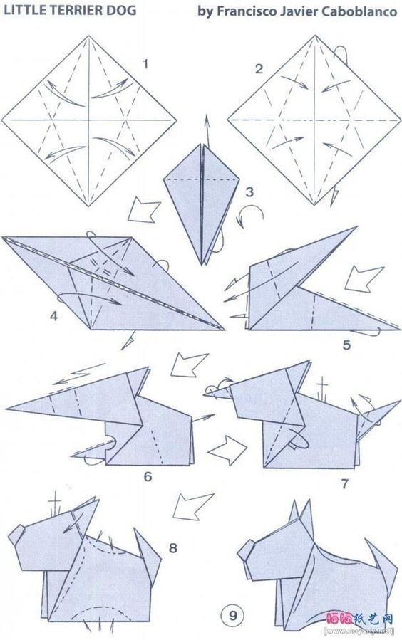 Origami Little Terrier Dog