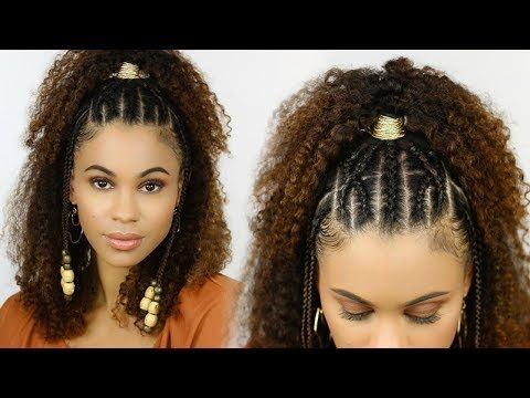 1 Easy Braided Summer Style For Natural Hair Youtube Hair Styles Natural Hair Styles Beautiful Haircuts