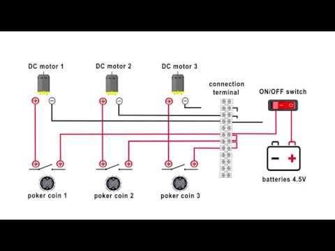 Diy Pinball Game Electrical Wiring Connection Diagram Pinball Game Diy Diagram