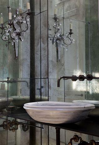 mirror wall / sink