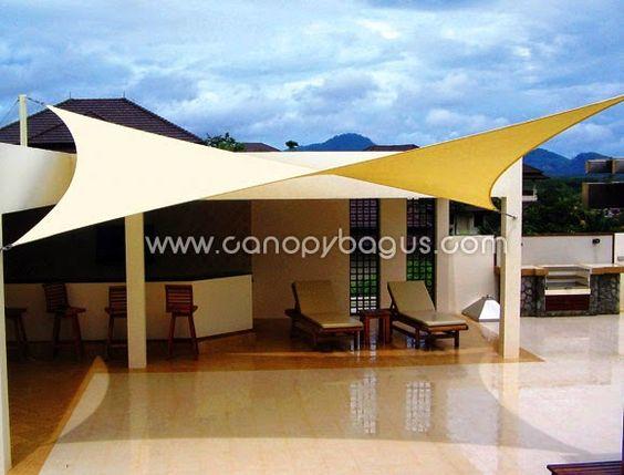 Tenda Membrane Canopy Kain Awning Jakarta Tenda Membrane Shade Sails Patio Patio Shade Patio Sails