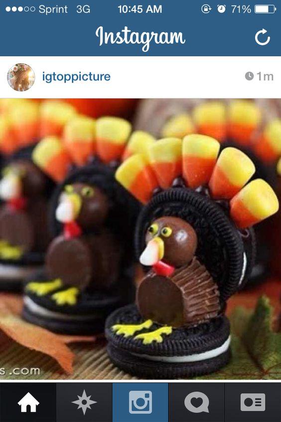 #turkey #snacks #food #cute #oreo #candycorn #peanutbuttercup #yummy