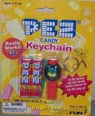 pez keychain | Retired Mini Pez Lion with Crown Keychain