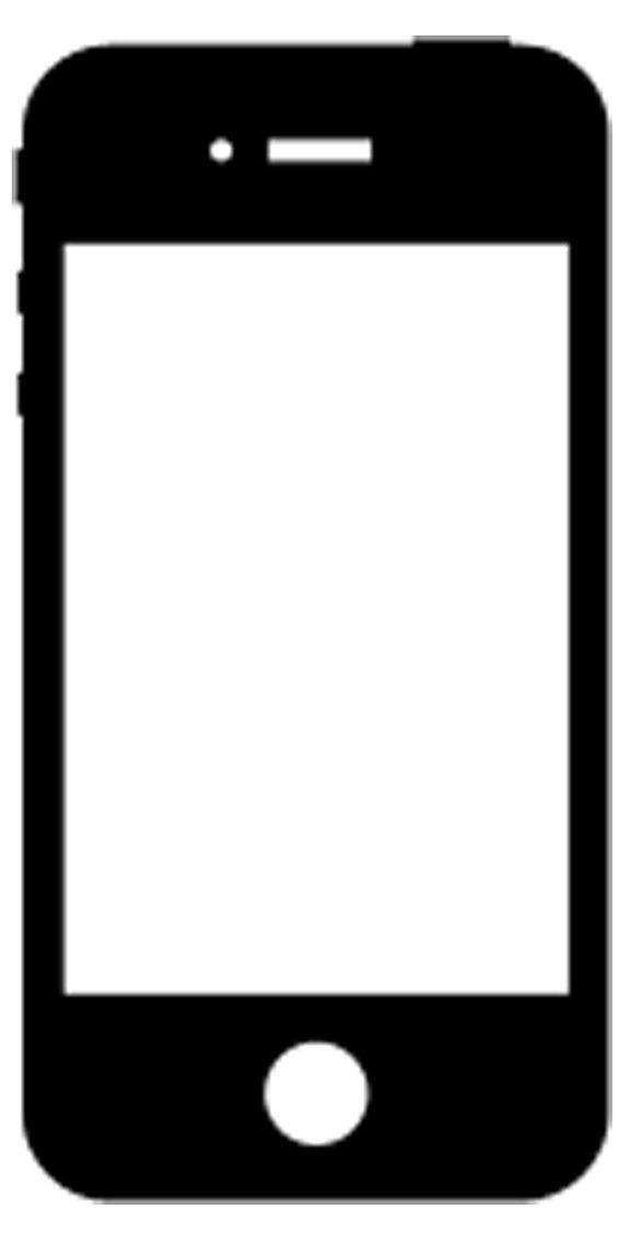 Explore Smartphone Silhouette, Silhouette Google, and more! Iphone Silhouette Icon