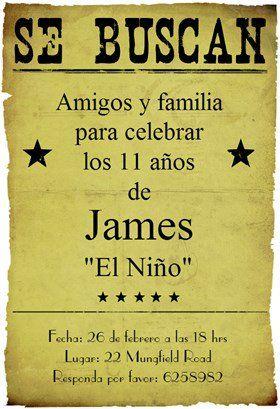 Fiesta De Cumpleaños Vaquero Invitación Destacada Gratis