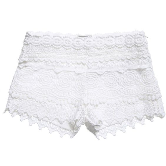 Girls White Lace Shorts, Mayoral, Girl | TROUSERS BOTTOMS KIDS ...