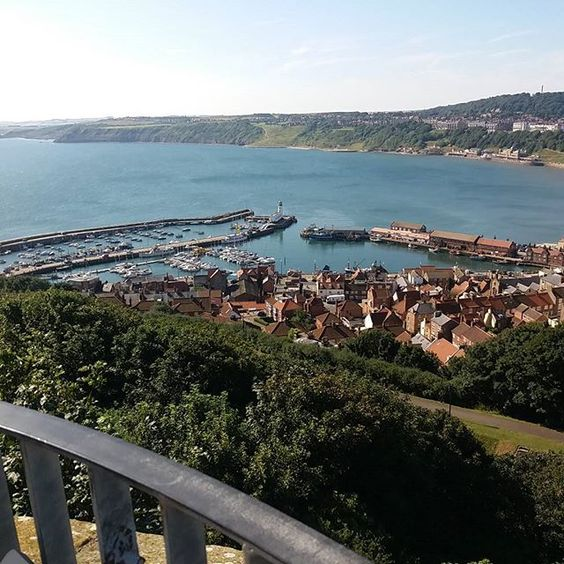 Harbour from the top of the castle #scarboroughcastle #scarborough #sea…: