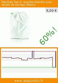 Tots Bots Sac à couches étanche avec cordon de serrage (Blanc) (Puériculture). Réduction de 60%! Prix actuel 9,00 €, l'ancien prix était de 22,24 €. https://www.adquisitio.fr/totsbots/sac-couches-%C3%A9tanche-avec