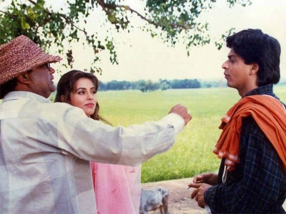 """SRK Universe on Twitter: """"On the sets of Pardes https://t.co/zeJVlQu0Ir"""""""