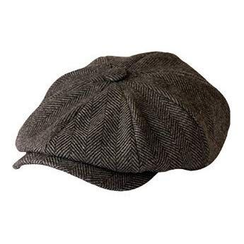 MINAKOLIFE Mens Vintage Style Shelby Cloth Cap Hat Twill Cabbie Hat Newsboy