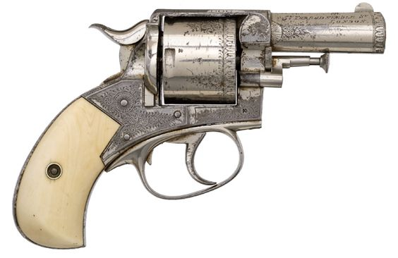 .44 caliber Webley British Bulldog pocket-revolver used to assassinate US President Garfield.
