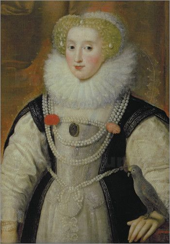 Portrait of an Elizabethan Lady with a Parrot, 16th century. Private Collection.: