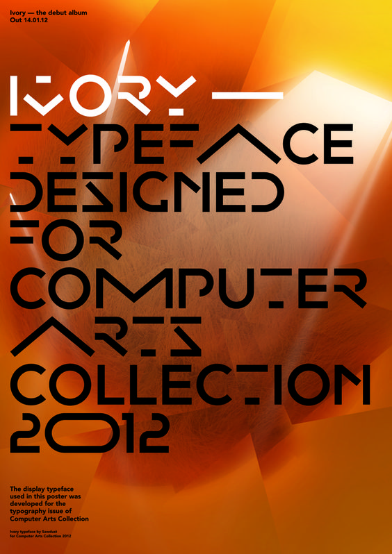 Typeface for CA Collection issue 2 (Computer Arts Collection) : by Sawdust