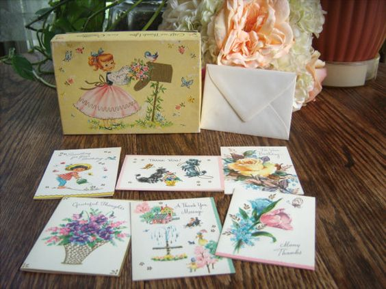 vintage card stationery set  gift birthday by HipHistoryVintage, $10.00