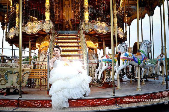 A Paris Elopement ~ Gown by Pronovias. Photography by wisnerphoto.com